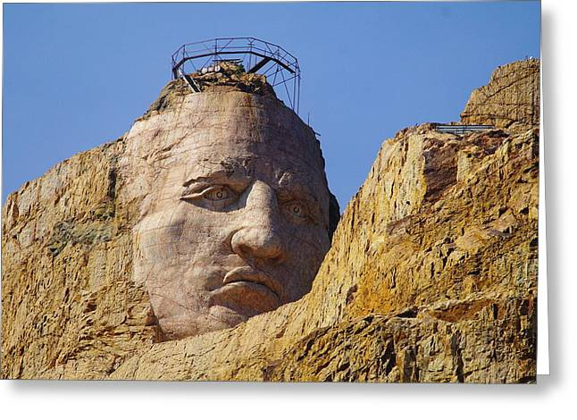 Crazy Horse Photographs Greeting Cards - The Eyes Of Crazy Horse Greeting Card by Jeff  Swan