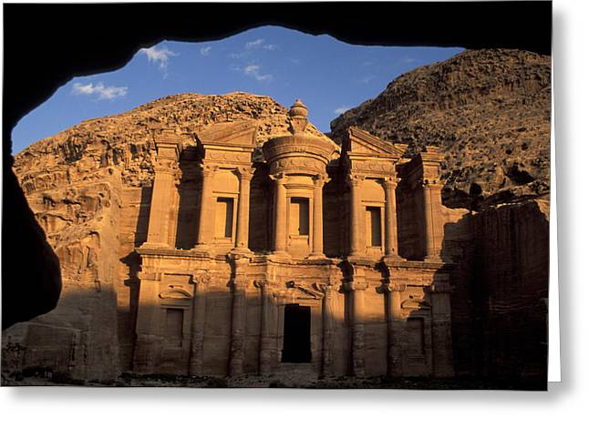 Jordan Art Greeting Cards - The facade of the Greeting Card by Richard Nowitz