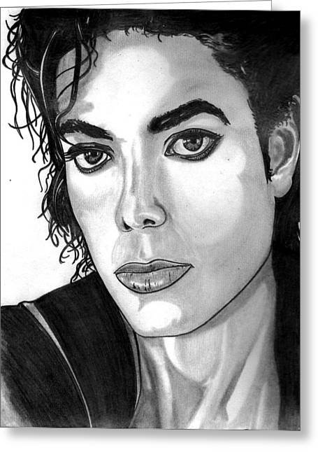 Michael Jackson Sketch Greeting Cards - The Face of Innocence  Greeting Card by Ralph Harlow