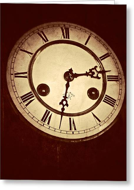 Clock Hands Greeting Card featuring the photograph The Face Of The Nineteenth Century by Odd Jeppesen
