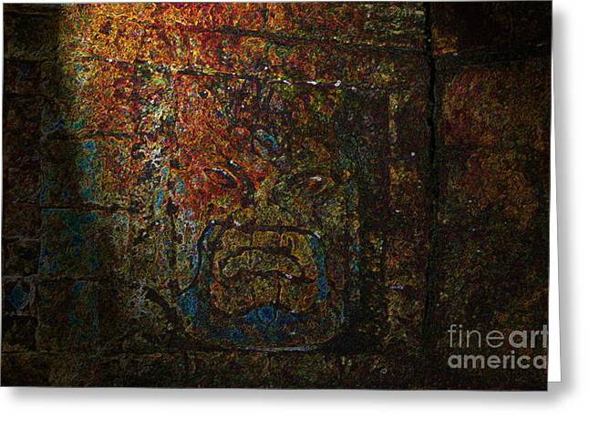 Indiana Art Digital Art Greeting Cards - The Face of Tlazolteotl Greeting Card by David Lee Thompson