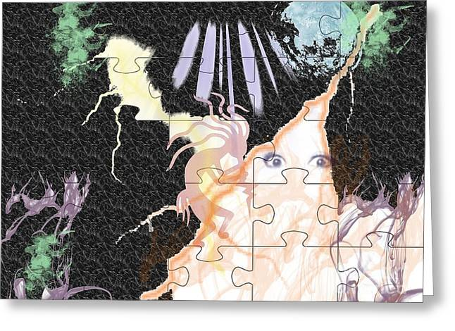 The fairies are loose Greeting Card by Paula  Adams