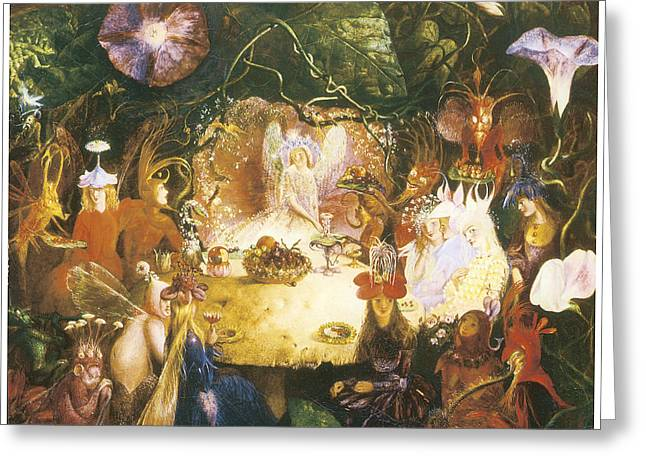 Banquet Greeting Cards - The Fairies Banquet Greeting Card by John Anster Fitzgerald