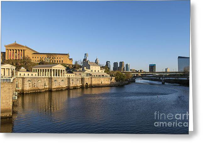 Interpretive Greeting Cards - The Fairmount Water Works Greeting Card by John Greim