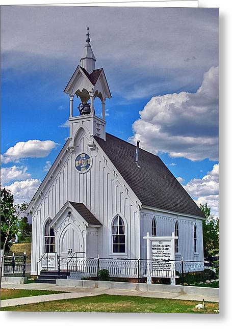 Country Church Greeting Cards - The Fairplay Church Greeting Card by Ken Smith
