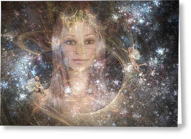 Mystical Women Greeting Cards - The Fairy Queen Greeting Card by Carol and Mike Werner