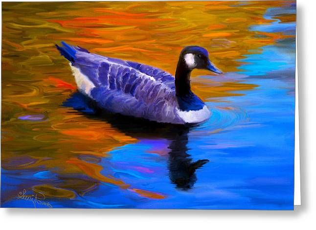Suni Roveto Greeting Cards - The Fall Goose Greeting Card by Suni Roveto