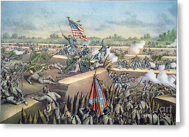 The Fall Of Petersburg To The Union Army 2nd April 1965 Greeting Card by American School