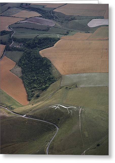 Installation Art Greeting Cards - The famed Uffington Greeting Card by James P. Blair