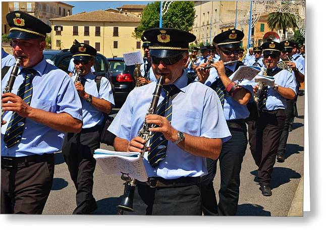 Improvisation Greeting Cards - The fanfare Greeting Card by Dany  Lison