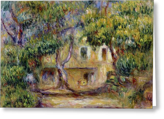The Houses Greeting Cards - The Farm at Les Collettes Greeting Card by Pierre Auguste Renoir