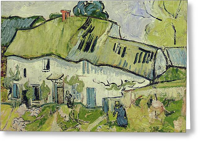 Farmhouse Greeting Cards - The Farm in Summer Greeting Card by Vincent van Gogh