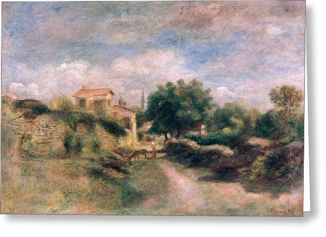 Country Cottage Greeting Cards - The Farm Greeting Card by Renoir