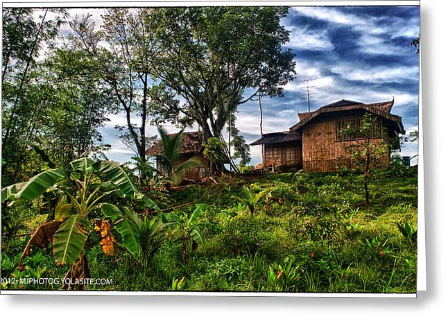 Bamboo House Greeting Cards - The Farmers House Greeting Card by Max Ereno