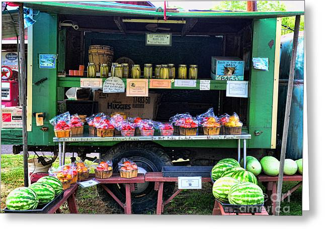 Watermelon Greeting Cards - The farmers market Greeting Card by Paul Ward