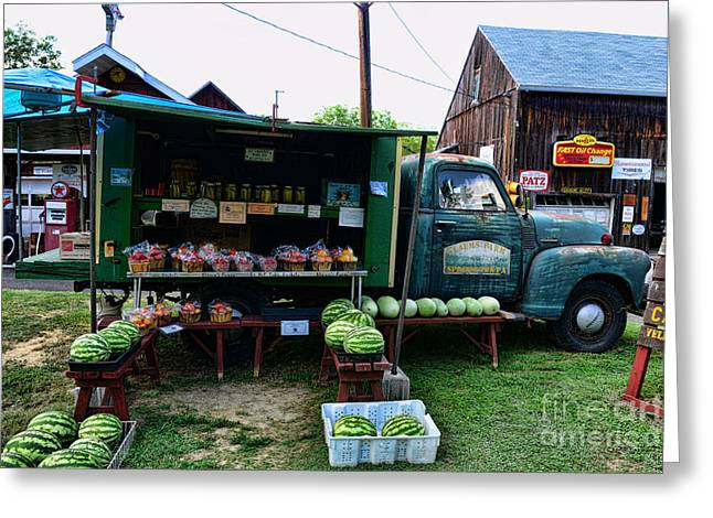 Watermelon Greeting Cards - The Farmers Truck Greeting Card by Paul Ward