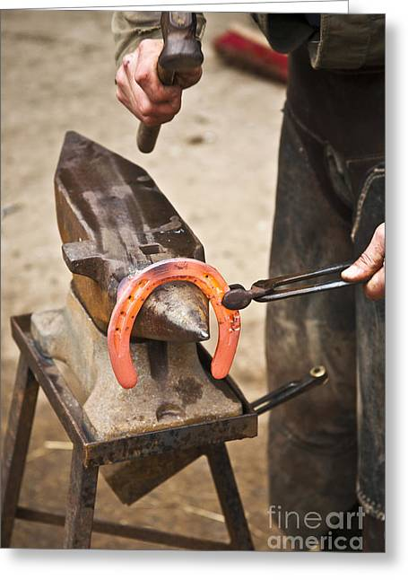 Farrier Greeting Cards - The Farrier Greeting Card by Heiko Koehrer-Wagner