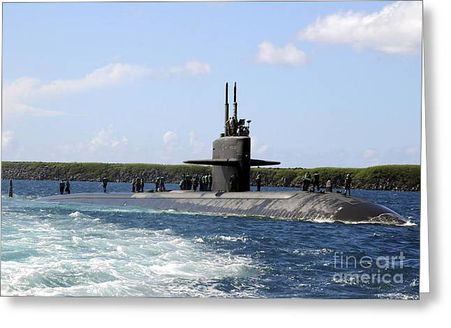 Emergence Greeting Cards - The Fast-attack Submarine Uss Los Greeting Card by Stocktrek Images