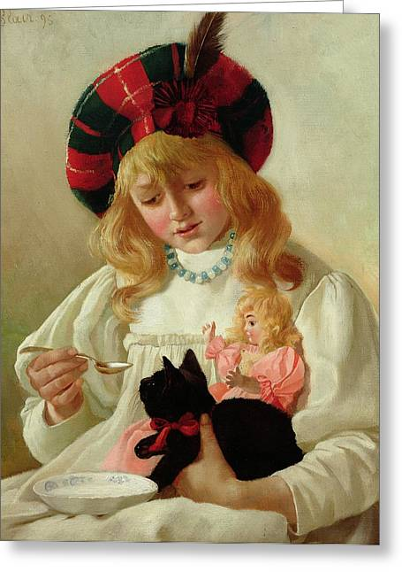 Cute Kitten Greeting Cards - The Favorites Greeting Card by CH Blair