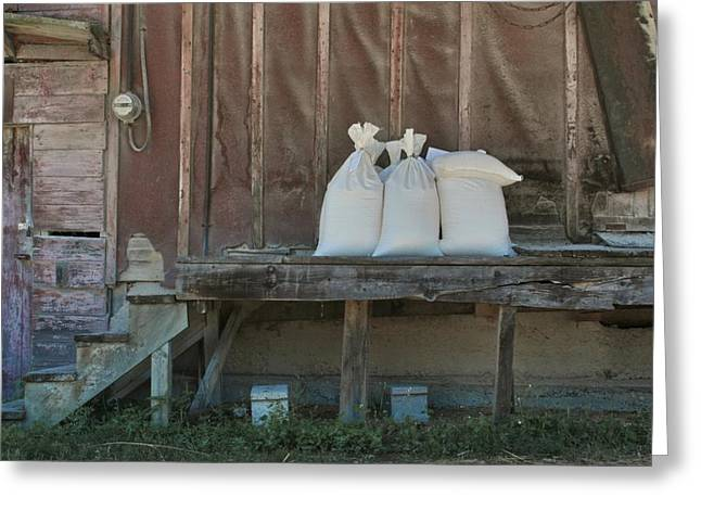 The Feed Mill Greeting Card by Odd Jeppesen