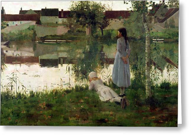 The Houses Greeting Cards - The Ferry Greeting Card by William Stott