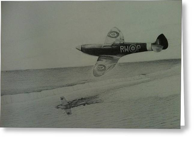Spitfire Drawings Greeting Cards - The Few Greeting Card by Reppard Powers