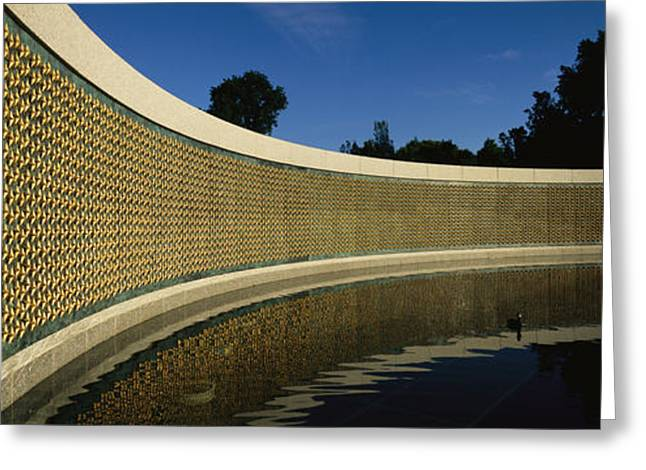 The Field Of Stars On The Freedom Wall Greeting Card by Richard Nowitz