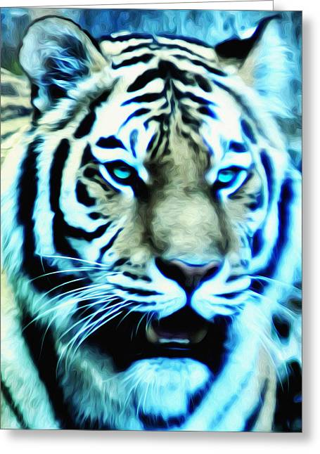 The Tiger Greeting Cards - The Fierce Tiger Greeting Card by Bill Cannon