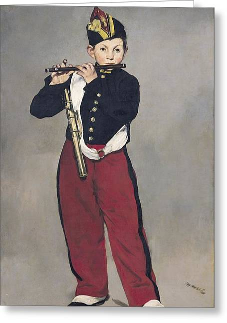Children Music Greeting Cards - The Fifer Greeting Card by Edouard Manet