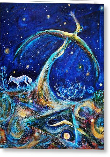 Stary Sky Greeting Cards - The Fifth Day of Creation Greeting Card by Ion vincent DAnu