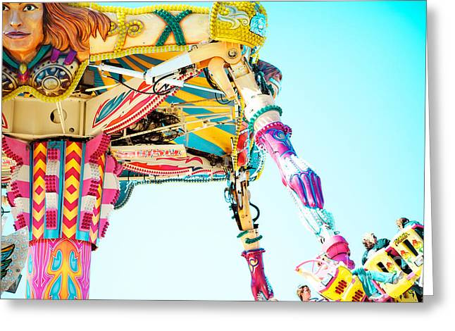 Carnival Ride Greeting Cards - The Fighter Greeting Card by Kim Fearheiley