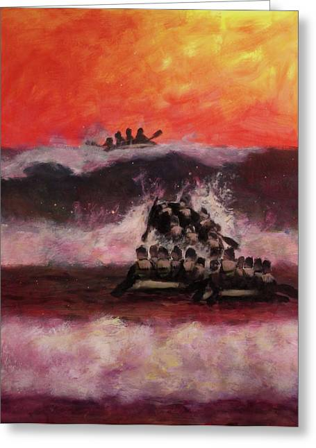 War Memorial Paintings Greeting Cards - The Final Passage Greeting Card by Stephen Roberson
