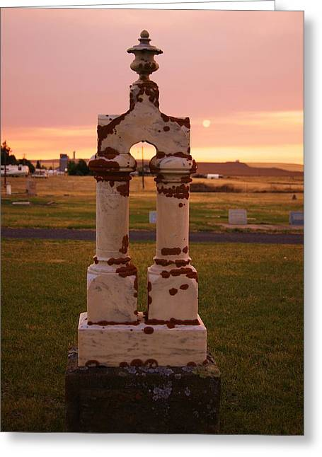 Grave Side Greeting Cards - The Final Sunset Greeting Card by Angi Parks