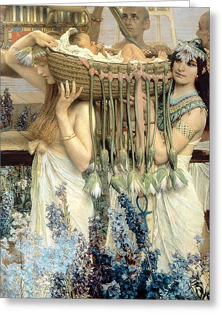 Processions Greeting Cards - The Finding of Moses by Pharaohs Daughter Greeting Card by Sir Lawrence Alma-Tadema