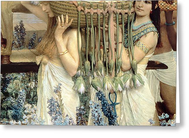 The Finding of Moses by Pharaoh's Daughter Greeting Card by Sir Lawrence Alma-Tadema