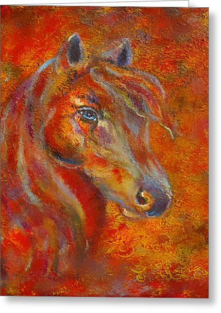 Charlotte Paintings Greeting Cards - The Fire Of Passion Greeting Card by The Art With A Heart By Charlotte Phillips