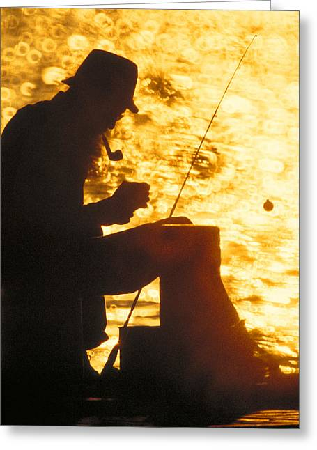 The Fisherman Greeting Card by Garry McMichael