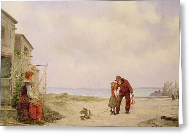 Homecoming Greeting Cards - The Fishermans Return  Greeting Card by George Haquette