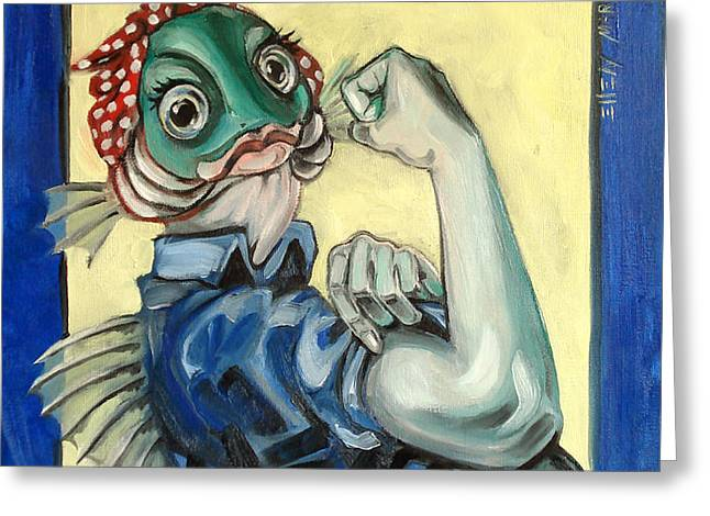 The Fishes Can Do It Greeting Card by Ellen Marcus