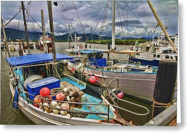 Fishing Trawler Greeting Cards - The Fishing Trawler Greeting Card by Douglas Barnard