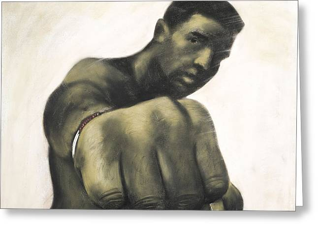 The Fist Greeting Card by L Cooper