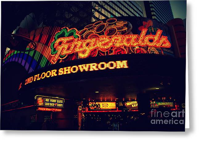The Fitzgerald In Down Town Las Vegas Greeting Card by Susanne Van Hulst