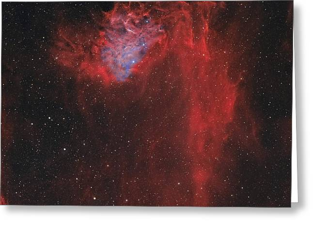 Aurigae Greeting Cards - The Flaming Star Nebula Greeting Card by Rolf Geissinger