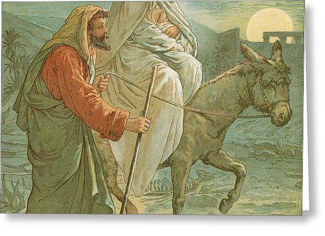 The Flight into Egypt Greeting Card by John Lawson
