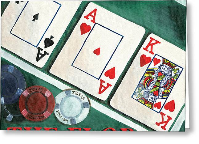 Game Greeting Cards - The Flop Greeting Card by Debbie DeWitt