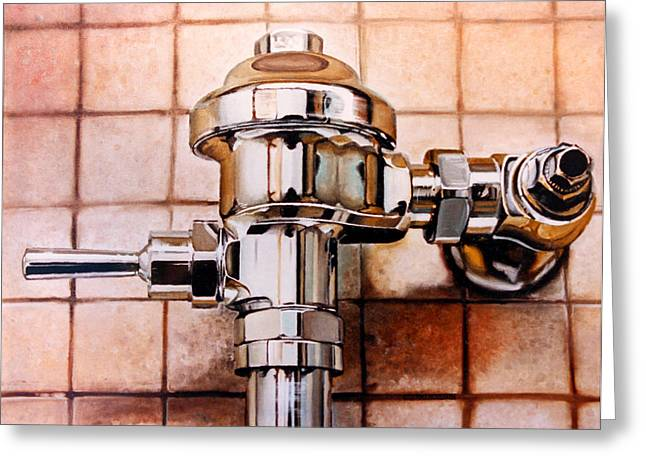 Photorealism Greeting Cards - The Flush Greeting Card by Baron Dixon
