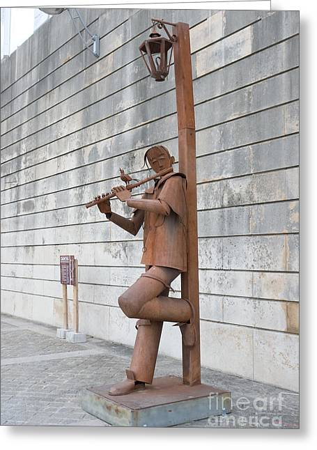 Carmona Greeting Cards - The Flute player Greeting Card by Fabrizio Ruggeri
