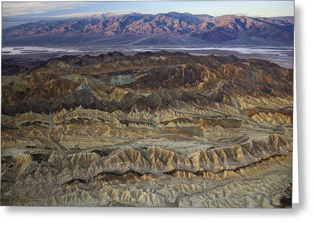 Panamint Valley Greeting Cards - The Foothills Of Amargosa Canyon Greeting Card by Michael Melford