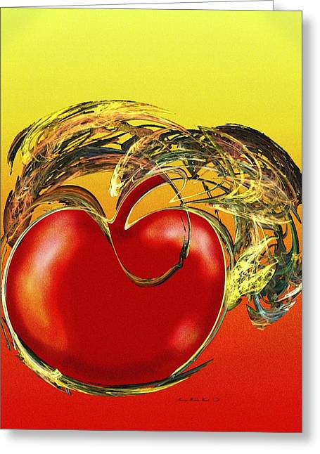 Forbidden Fruit Greeting Cards - The Forbidden Fruit Greeting Card by Sherry Holder Hunt