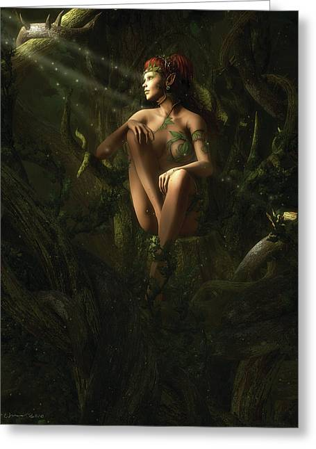 Melissa Krauss Greeting Cards - The Forest Queen Greeting Card by Melissa Krauss